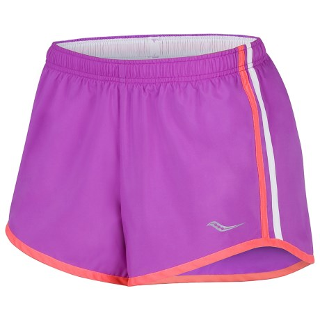 Saucony P.E. Shorts (For Women) in Passion Purple/Vizipro Coral