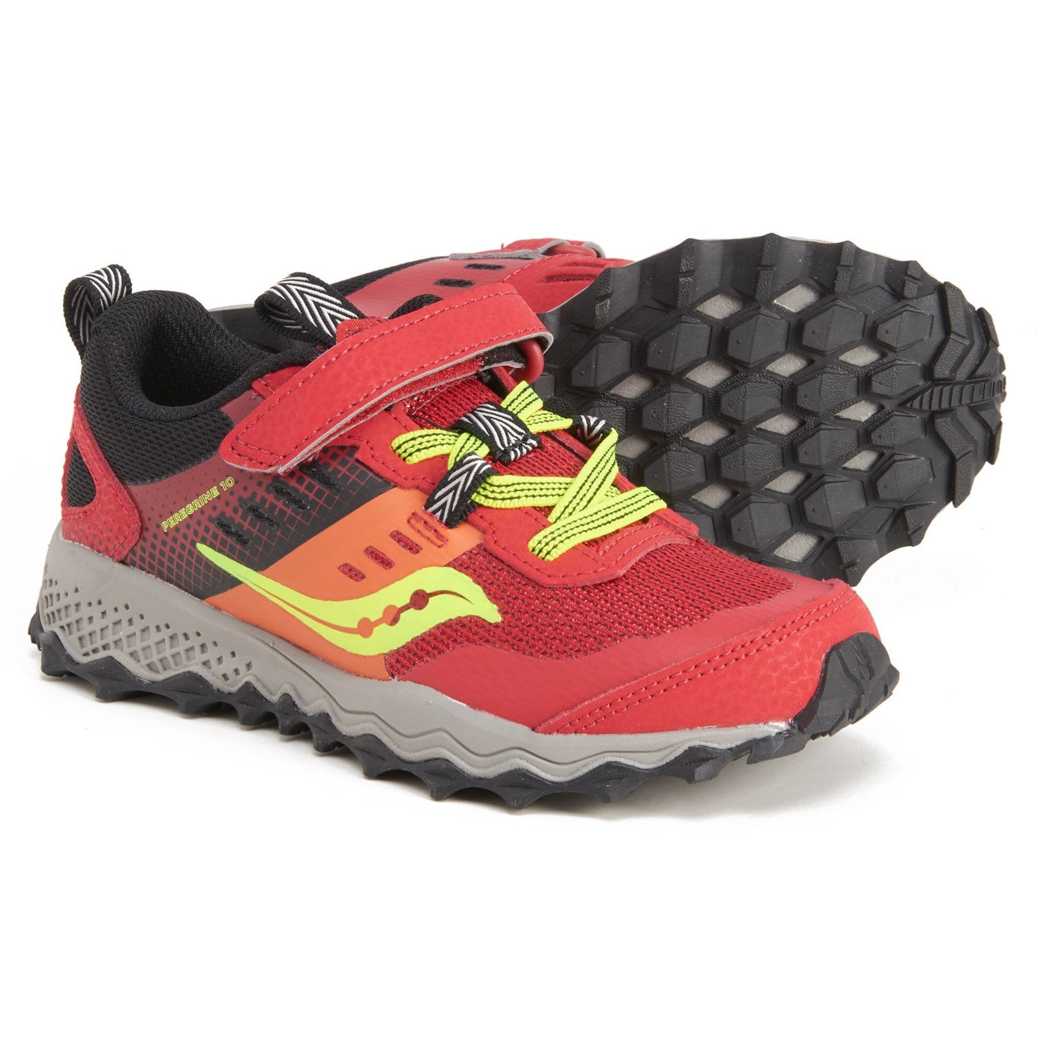 Saucony Peregrine 10 Shield A/C Trail Running Shoes (For Boys) - Save 37%