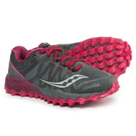 Saucony Peregrine 7 Trail Running Shoes (For Women) in Grey/Berry - Closeouts