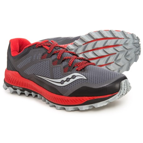 b257b958043 Saucony Peregrine 8 Trail Running Shoes (For Men) in Black Red