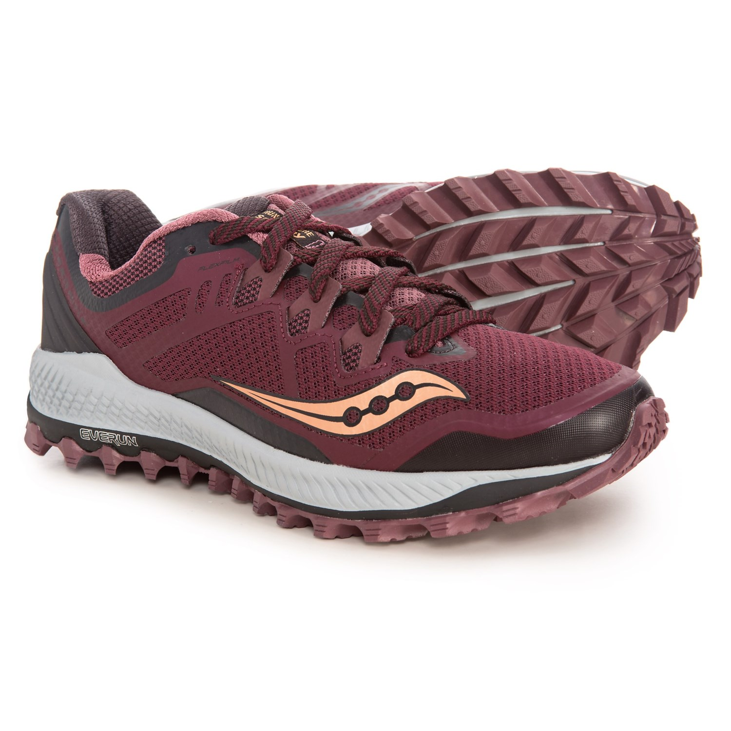 1d8eee739319 Saucony Peregrine 8 Trail Running Shoes (For Women) in Wine Peach