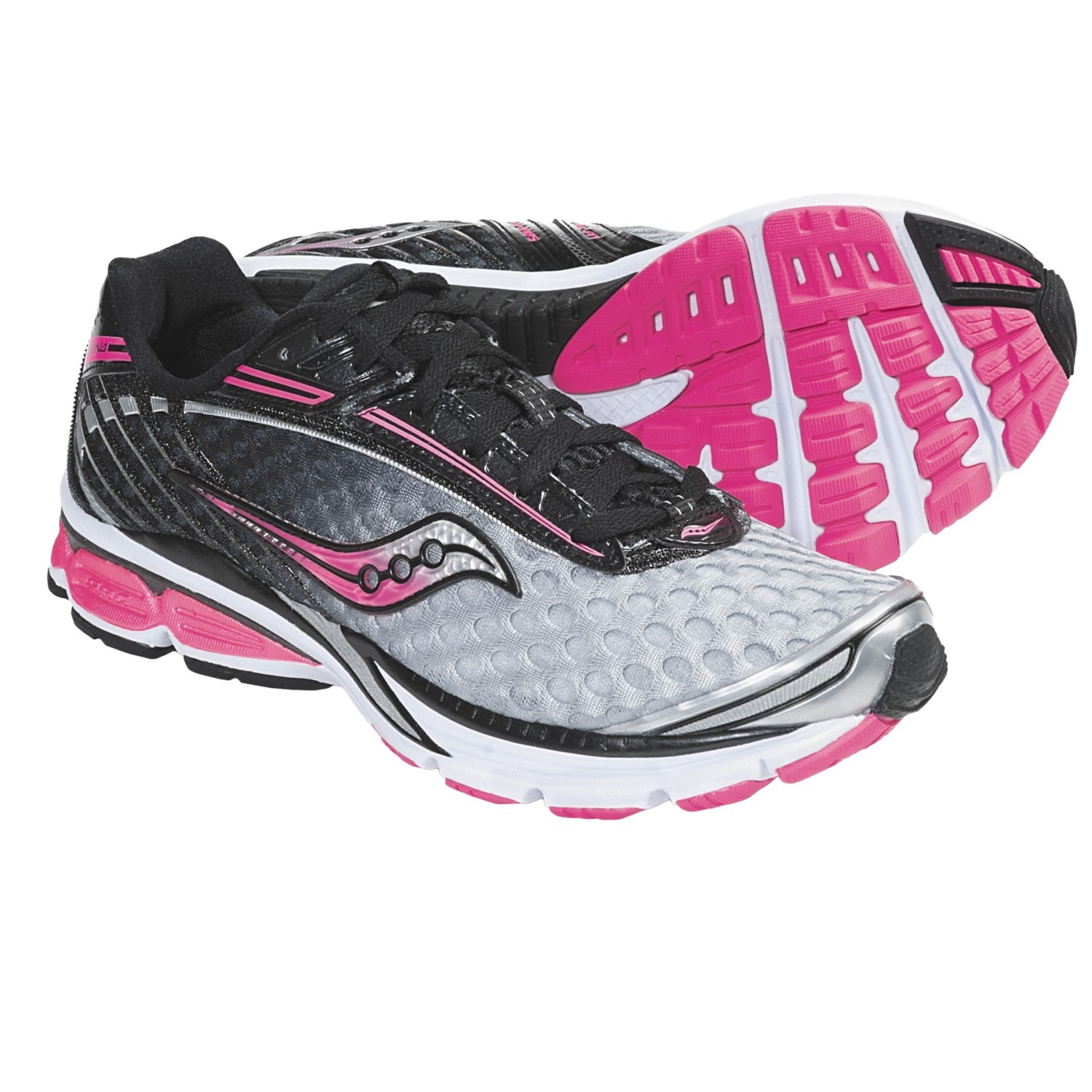 Saucony PowerGrid Cortana Running Shoes (For Women) in Silver/Black