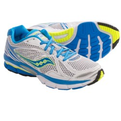 Saucony PowerGrid Hurricane 15 Running Shoes (For Women) in Silver/Green/Pink