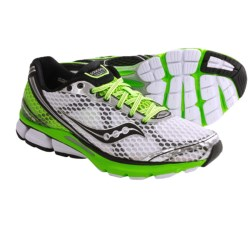 Saucony PowerGrid Triumph 10 Running Shoes (For Men) in Citron/Black/White