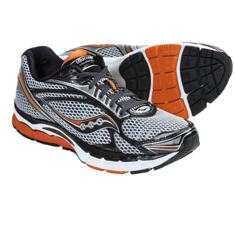 Saucony PowerGrid Triumph 9 Running Shoes (For Men) in Silver/Grey/Orange