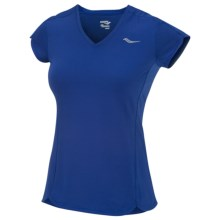 Saucony Premium Tech Shirt - UPF 50+, Short Sleeve (For Women) in Cobalt - Closeouts