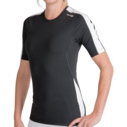 Saucony PrimoLite WXT Shirt - UPF 50, Short Sleeve (For Women) in Black