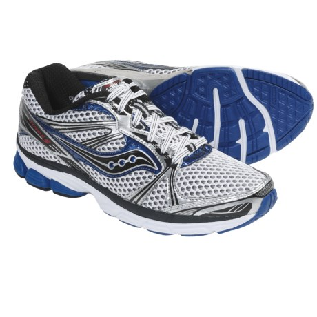 Saucony ProGrid Guide 5 Running Shoes (For Men) in White/Silver/Royal