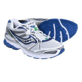 Saucony ProGrid Guide 5 Running Shoes (For Women) in White/Silver/Blue