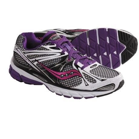 Saucony ProGrid Guide 6 Running Shoes (For Women) in White/Black/Purple