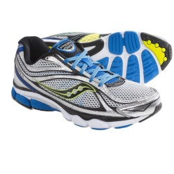 Saucony ProGrid Omni 11 Running Shoes (For Men) in White/Blue/Citron