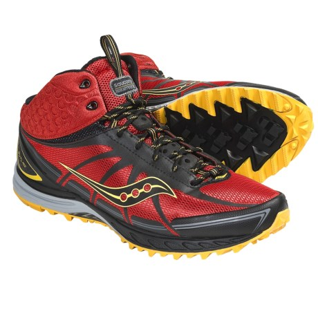 Saucony ProGrid Outlaw Trail Running Shoes (For Men) in Orange/Black