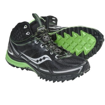 Saucony ProGrid Outlaw Trail Running Shoes (For Women) in Black/Green