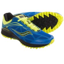 Saucony ProGrid Peregrine 3 Trail Running Shoes (For Men) in Blue/Citron - Closeouts