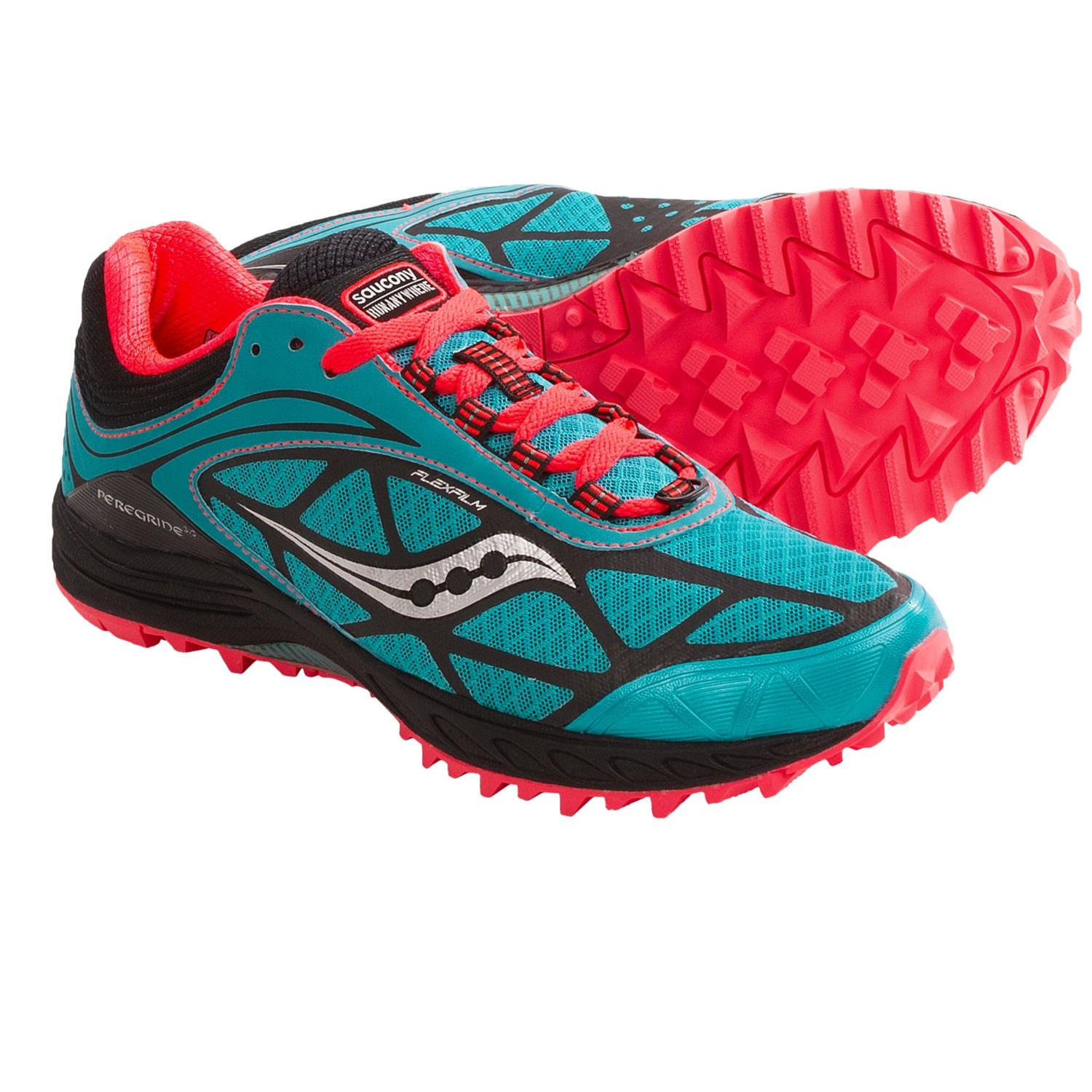 Saucony ProGrid Peregrine 3 Trail Running Shoes (For Women) in Tea