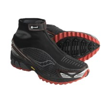 Saucony ProGrid Razor Trail Running Shoes - Waterproof (For Men) in Black/Orange - Closeouts