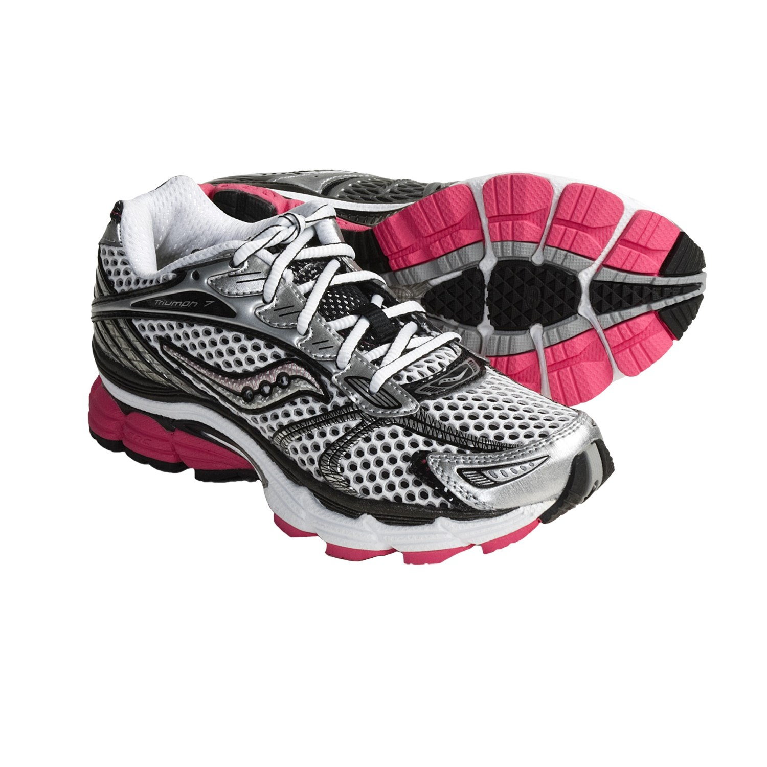 ProGrid Triumph 7 Running Shoes (For Women) in Silver/Black/Pink