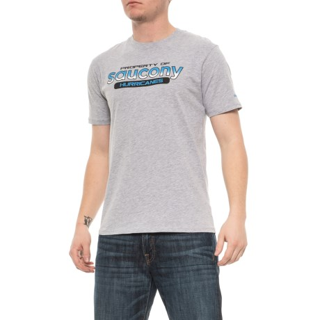 663d5cd3 Saucony RA Graphic T-Shirt - Short Sleeve (For Men) in Heather Grey