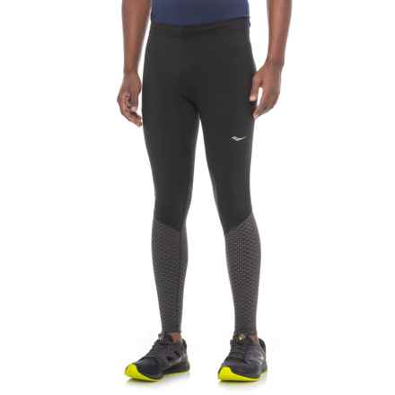 Saucony Reflex Compression Tights (For Men) in Black - Closeouts