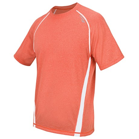 Saucony Revel Shirt - UPF 40+, Short Sleeve (For Men) in Orange