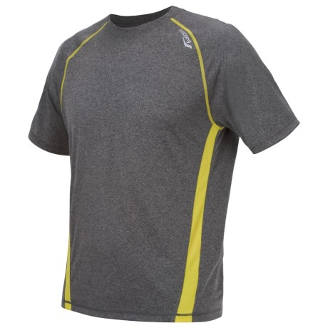 Saucony Revel Shirt - UPF 40+, Short Sleeve (For Men) in Phantom/Sipher