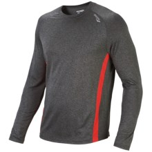Saucony Revel T-Shirt - Long Sleeve (For Men) in Phantom/Strong Red - Closeouts
