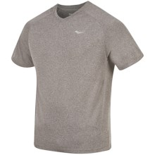 Saucony Revel T-Shirt - Short Sleeve (For Men) in Heather Grey - Closeouts