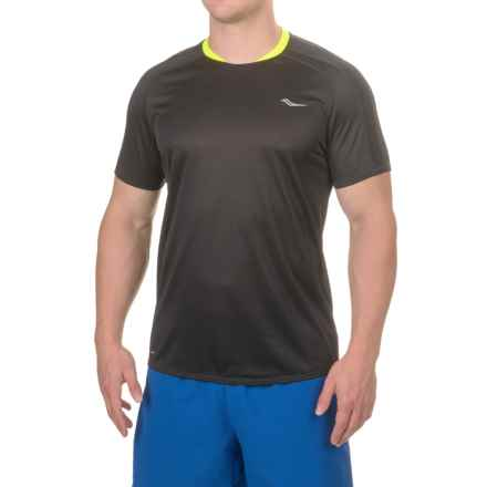 Saucony Revolution Shirt - Short Sleeve (For Men) in Black - Closeouts