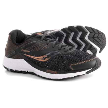 Saucony Ride 10 Running Shoes (For Men) in Black/Denim/Copper - Closeouts