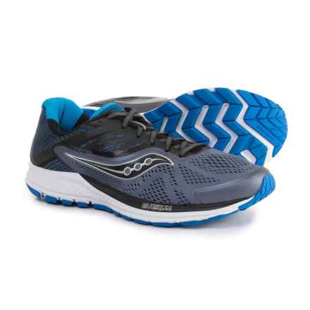 Saucony Ride 10 Running Shoes (For Men) in Grey/Black/Blue - Closeouts