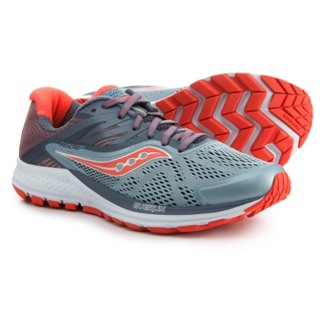 c54962902c8 Saucony Ride 10 Running Shoes (For Women) in Fog Vizired