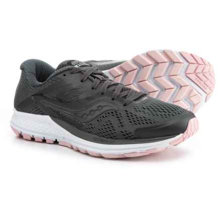 Saucony Ride 10 Running Shoes (For Women) in Gunmetal/Pink - Closeouts