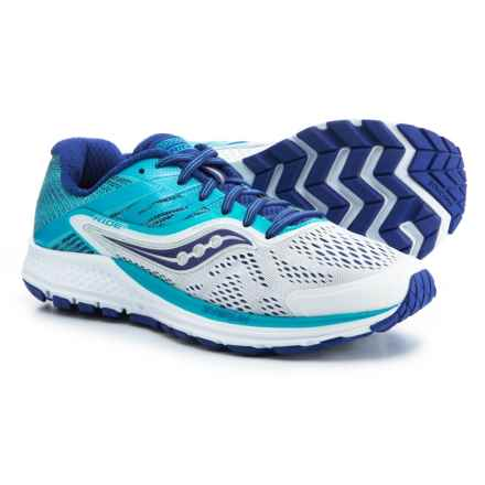 Saucony Ride 10 Running Shoes (For Women) in White/Blue - Closeouts