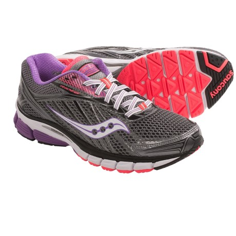 Saucony Ride 6 Running Shoes (For Women) in Grey/Purple/Coral