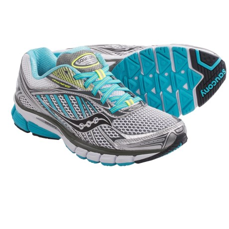 Saucony Ride 6 Running Shoes (For Women) in Silver/Blue/Citron