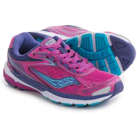 Saucony Ride 8 Running Shoes (For Little and Big Girls) in Pink/Purple - Closeouts