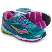 Saucony Ride 8 Running Shoes (For Little and Big Girls) in Turquoise - Closeouts