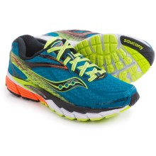 Saucony Ride 8 Running Shoes (For Men) in Deepwater/Citron/Orange - Closeouts