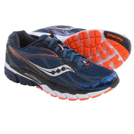 Saucony Ride 8 Running Shoes (For Men) in Midnight/Black/Orange - Closeouts
