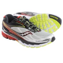 Saucony Ride 8 Running Shoes (For Men) in Silver/Red/Citron - Closeouts