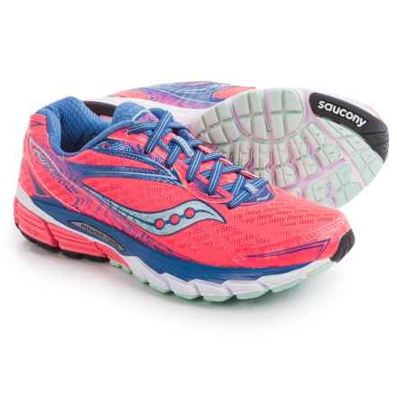 Saucony Ride 8 Running Shoes (For Women) in Coral/Blue/Sea - Closeouts