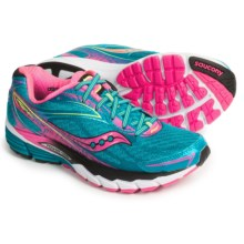 Saucony Ride 8 Running Shoes (For Women) in Deepwater/Pink/Citron - Closeouts