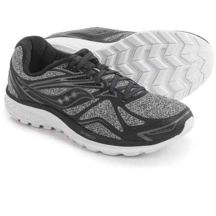 Saucony Ride 9 Running Shoes (For Men) in Grey/Black - Closeouts