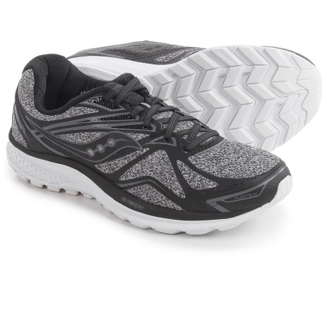 Saucony Ride 9 Running Shoes For Men In Grey Black