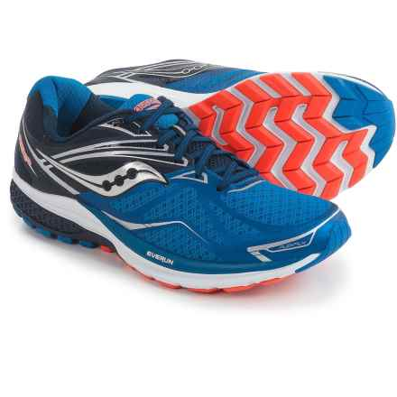 Saucony Ride 9 Running Shoes (For Men) in Grey/Blue/Orange - Closeouts