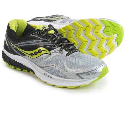 Saucony Ride 9 Running Shoes (For Men) in Silver/Black/Lime - Closeouts