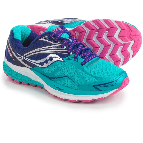 Saucony Ride 9 Running Shoes (For Women) in Navy/Blue/Pink