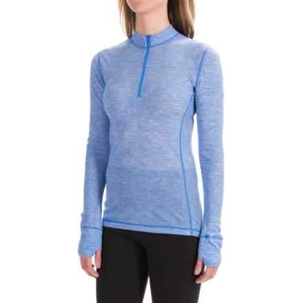 Saucony Ridge Runner PrimaLoft® Base Layer Top - Zip Neck, Long Sleeve (For Women) in Sapphire - Closeouts