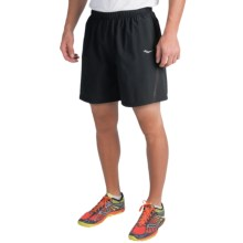 Saucony Run Lux III Shorts - Built-In Brief (For Men) in Black - Closeouts