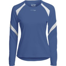 Saucony Run Lux Shirt - UPF 40-50+, Recycled Materials, Long Sleeve (For Women) in Pacific/White - Closeouts